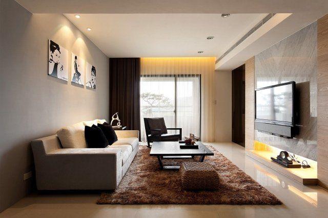 décoration salon rectangulaire