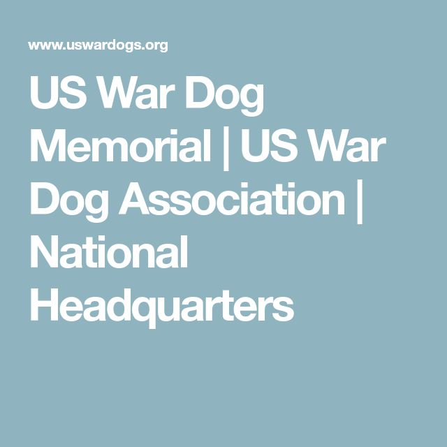 US War Dog Memorial | US War Dog Association | National Headquarters
