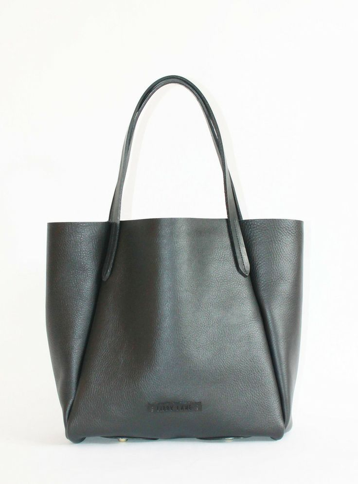 Libby Lane Leather Goods — CrossL Tote Pitch Black