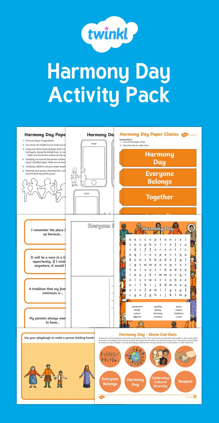 This handy pack contains a variety of resources to help support your teaching on Harmony Day!