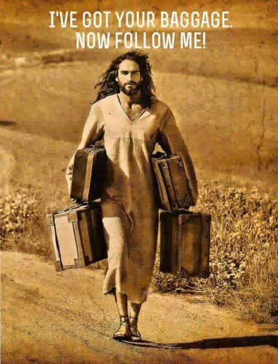 Yes!!! Love this so much! Lord, thank you for carrying my baggage! Thank you for loving ME!