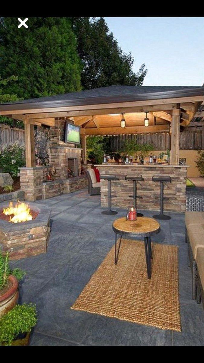 41 Favourite Ideas For Backyard Landscaping On A Budget For You Backyardlandscaping Backyardideas Patio Deck Designs Backyard Patio Patio Design Backyard garden with kitchen