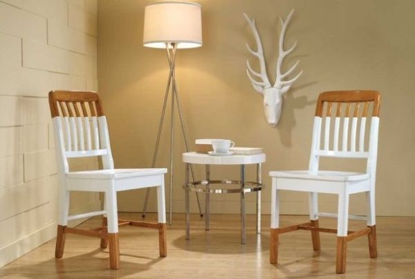 Paint-Dipped Furniture Designs – white dinning chairs