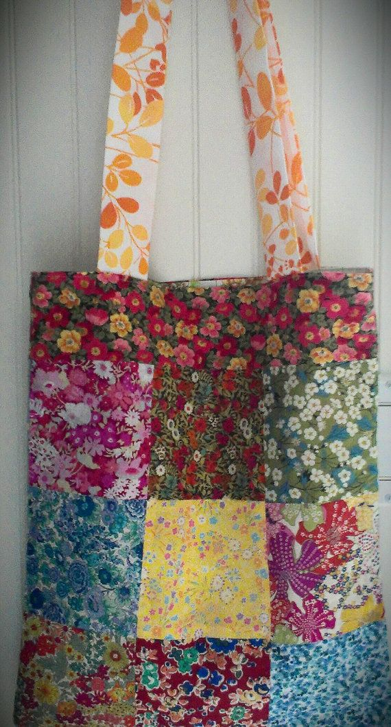 Liberty of London patchwork tote // totebag // by blueberryfields, $40.00