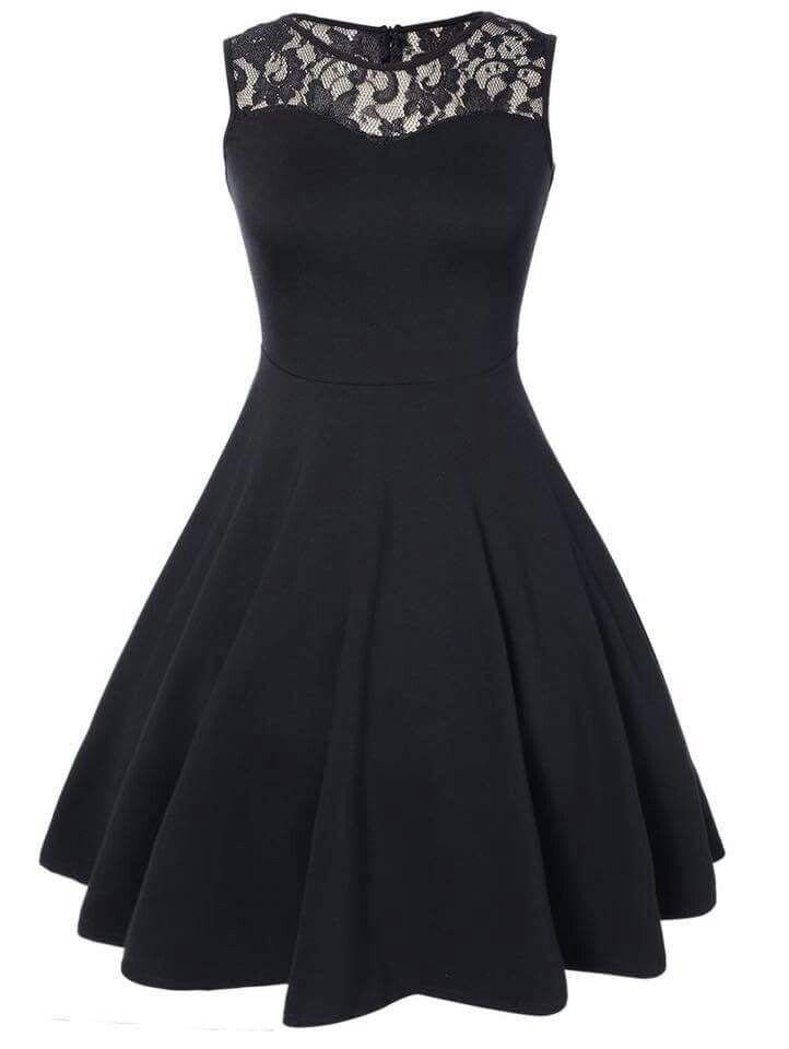 Cute black dress, for prom, or dinner, etc