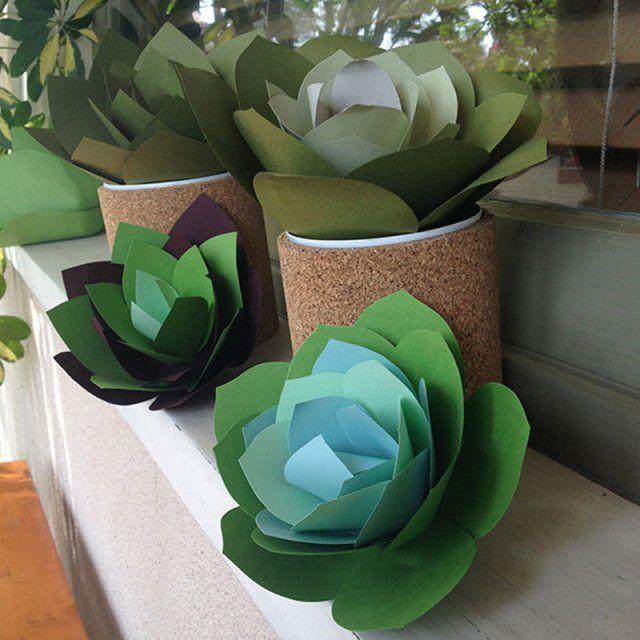 Réalisez des succulentes en papier / Paper Plants DIY