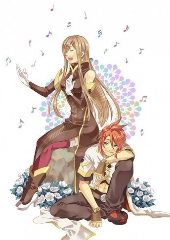 "A picture of my OTP ~""Tales of the Abyss"" by Aurelia Knight~"