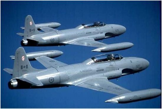 Canadair of Cartierville, Quebec won the contract to build the RCAF version of the Lockheed T-33, The  CT-133 Silver Star with its Canadian-built Rolls-Royce Nene engine was 50 mph faster than the T-33 Shooting Star American version.