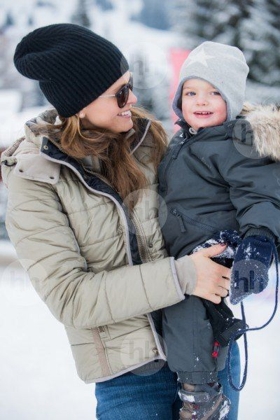 Duchess of Västergötland: The Princess Madeleine'\'s Family while on vacation in the Swiss Alps. (January 2017)