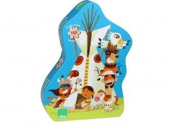 houten puzzel 'indianen' (150 pcs) Vilac | kinderen-shop Kleine Zebra