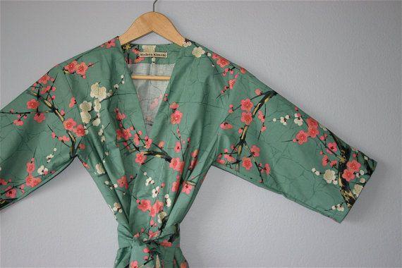 Plus size Kimono Robe. Dressing Gown.  Wrap by ModernKimonoRobes, $75.00