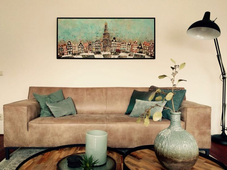 Schilderij Martini Centraal Groningen. www.artnoel.nl. Zelf een leuk idee voor een kunstwerk?! Laat het me weten: info@artnoel.nl