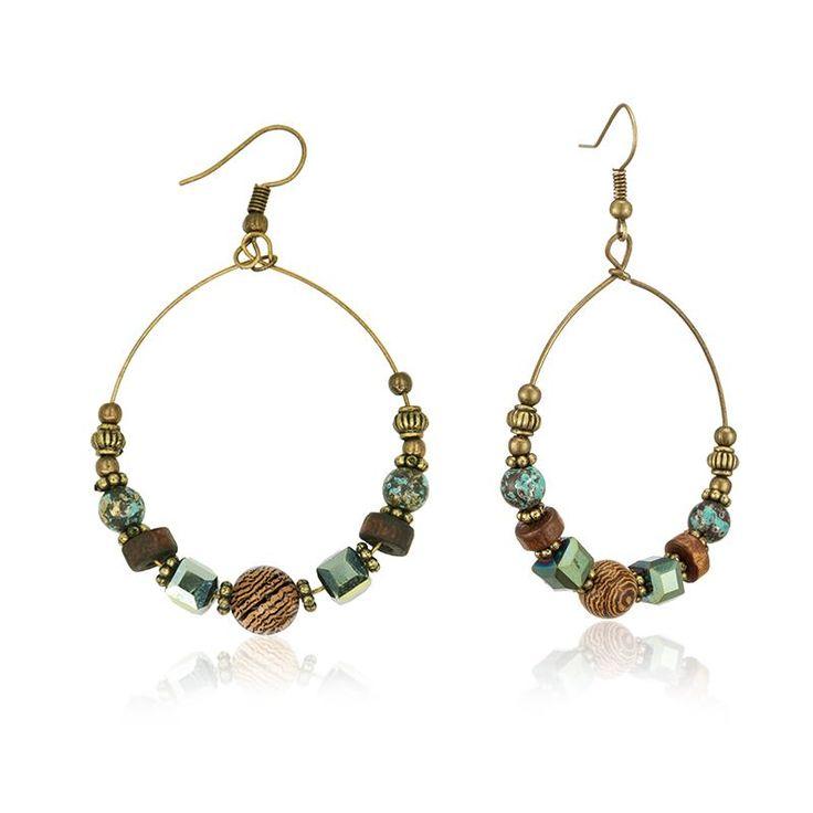 Bohemia Brand Statement Drop Earrings Boho Turkish Vintage Ethnic Jewelry FOR Women 2017 Bijoux Woman Crystal Earrings