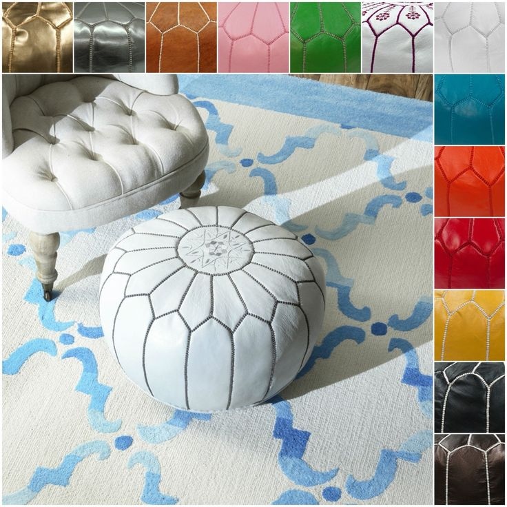 NuLOOM Handmade Casual Living Leather Moroccan Ottoman Pouf By Nuloom.  Patio Furniture SaleLiving Room FurnitureOutdoor FurnitureOnline ...