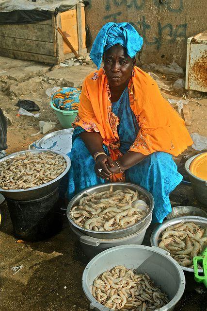 Fresh shrimps, Senegal by Ferdinand Reus, via Flickr