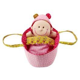 Bebé Chloe - Bebé Chloe. Muñeca blanca de tela a la que se puede vestir y desvestir y llevar en su capazo.
