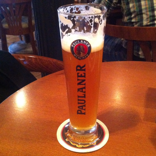 Another great stuff Paulaner from pipe. Restaurant Na Marjance in Prague.