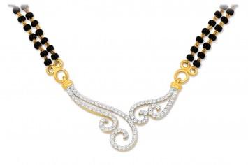 Akshita #diamond #gold #mangalsutra