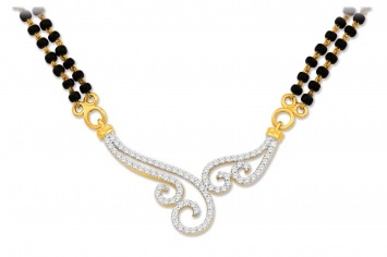 Akshita #diamond #gold #mangalsutra