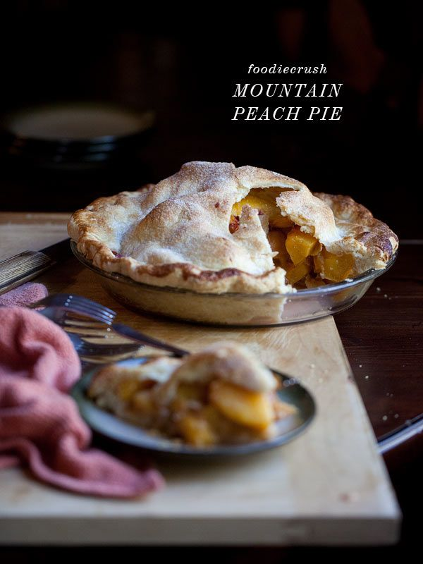 Mountain Peach Pie has a fool-proof crust that works every time | foodiecrush.com