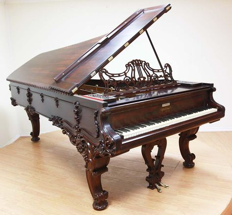 Chickering Victorian Concert Grand Piano | The Antique Piano Shop