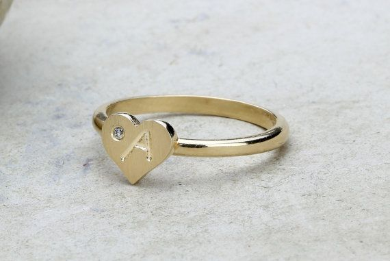Engraved charm ringpersonalized ringengraving by AnemoneCharm