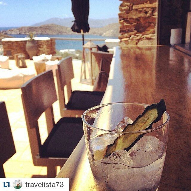 #Repost @travelista73 ・・・ This welcome drink has got to be my favourite ever! Refreshing with aloe, black basil seeds and the rest is a secret  #Ios #Greece #liostasi #grandmas #restaurant #welcomedrink #holidays #cheers #iosisland #greece #islandlife #cyclades_islands #igers #ig_greece