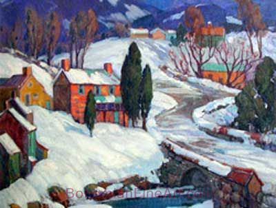 Fern I. Coppedge, Snowy Countryside Fine Art Reproduction Oil Painting