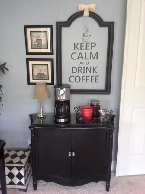 keep calm and drink coffee....my master bedroom coffee station