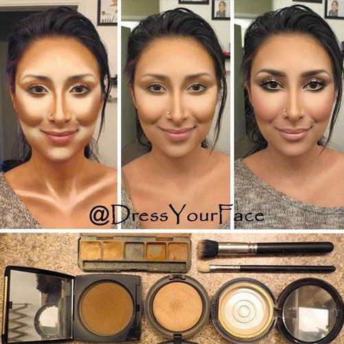 contouring/highlighting techniques | Contouring Highlighting Hacks, Tips, Tricks, Pictures; How To | Teen ...