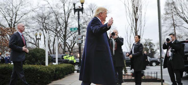 Donald Trump, au matin de son investiture à Washington le 20 janvier 2017.