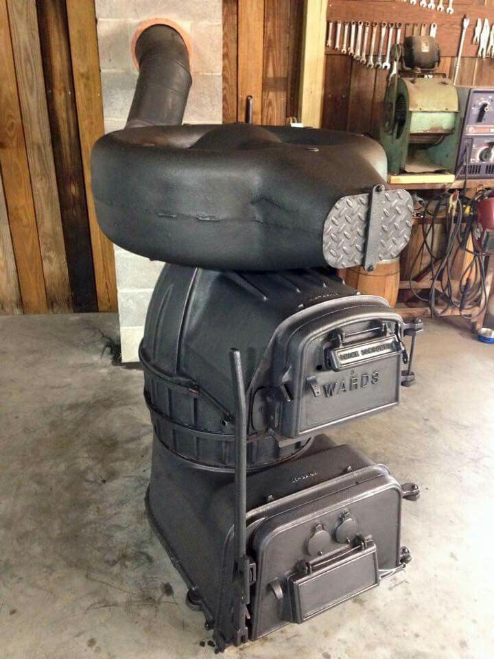 Wards Coal Heater Or Furnace Stoves Antique Wood