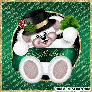 Green New Year Bear picture