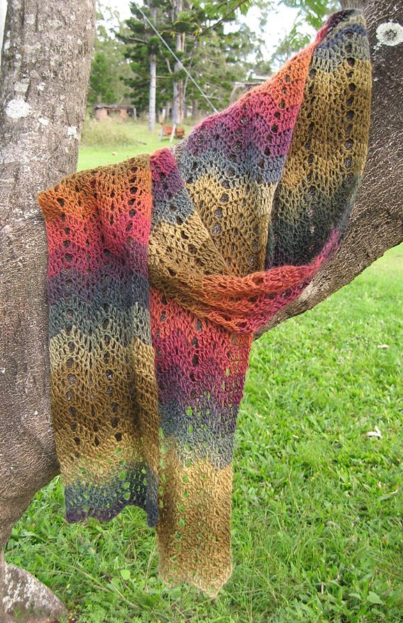 What I'm working on right now!!  Easy repetitious pattern & it's free!!  Ravelry: One-Skein Chevron Scarf pattern by Dena Stelly
