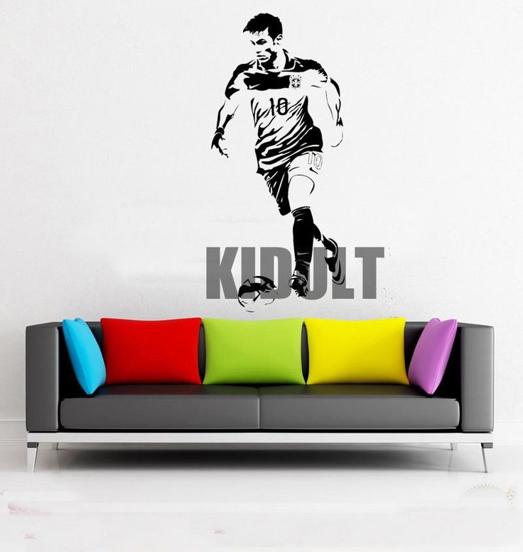 Neymar Football Superstar Posters Wall Decal Wall Stickers Vinyl Stickers Home Fans Indoor Football Stadium Backdrop Stickers