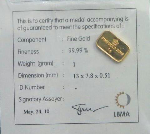 Harga emas antam hari ini – Emas batangan Murni / LM bersertifikat