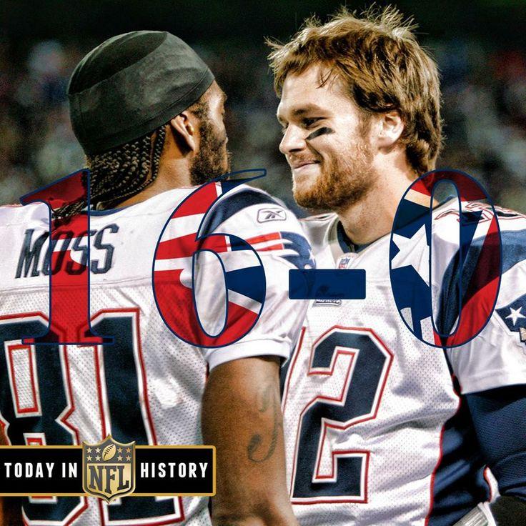10 yrs ago today the Patriots became the 1st team to go 16-0, 12-29-07. (Moss & Brady)