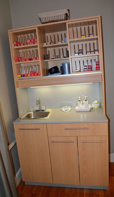 Monument Style   Great oak color bar   Shop hair salon products at www.standishsalongoods.com