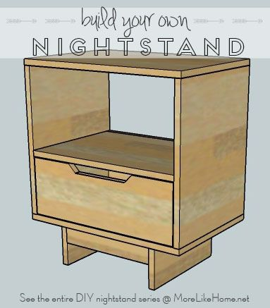 build your own nightstand with 18 free plans this one features both a drawer and an open cubby. Black Bedroom Furniture Sets. Home Design Ideas