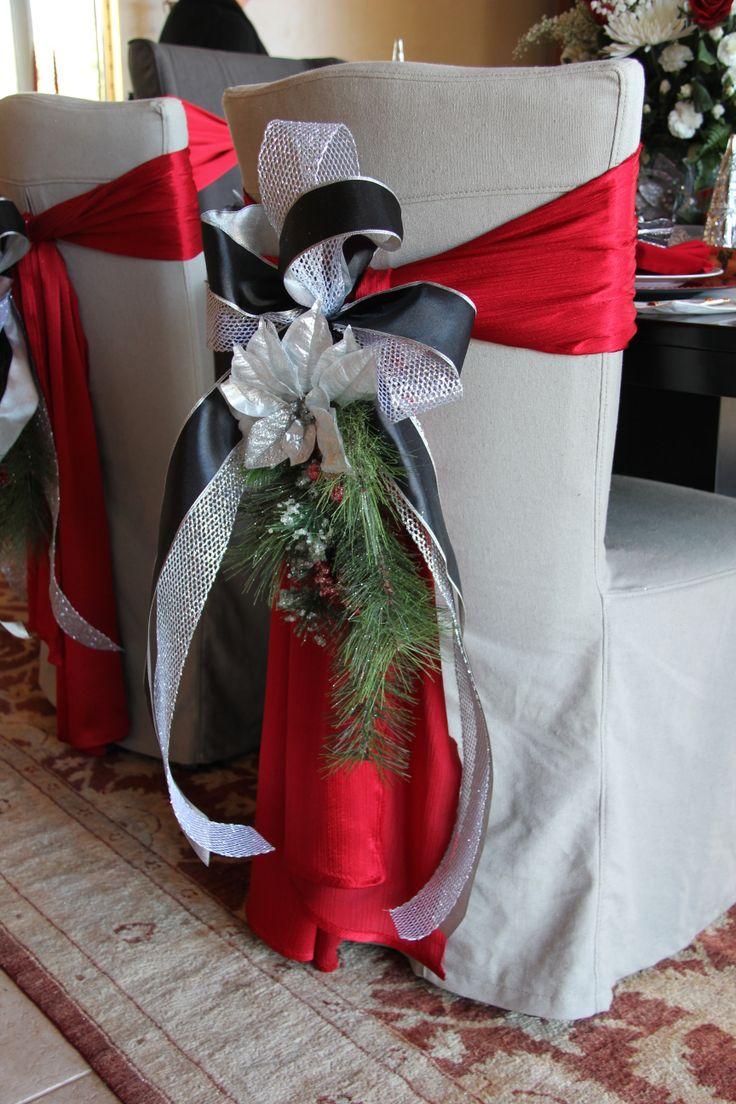 Christmas chair covers ideas - Stunning Chair Wrap 2013 Holiday House Tour New Neighbor S League St Louis