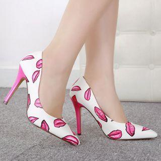 Sexy Lips White And Pink Stilettos R999.00