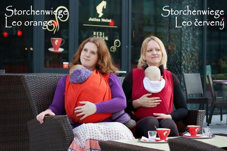 Storchenwiege Leo orange a Leo červený www.storchenwiege.cz www.vbavlnce.cz vbavlnce.blogspot.cz