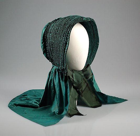 Bonnet, ca 1845