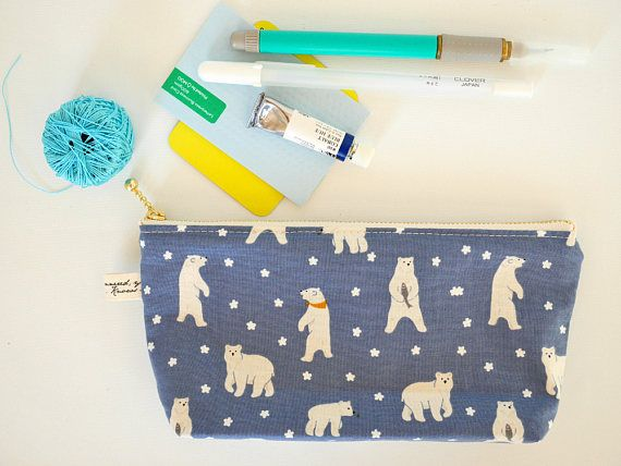 Zipper pencil pouch Boy's EpiPen pouch cute pencil case