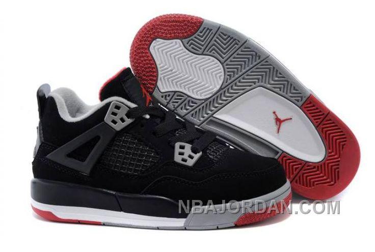 http://www.nbajordan.com/kids-jordan-4-bred-basketball-shoes-black-cement-greyfire-red.html KIDS JORDAN 4 BRED BASKETBALL SHOES BLACK/CEMENT GREY-FIRE RED Only $79.00 , Free Shipping!