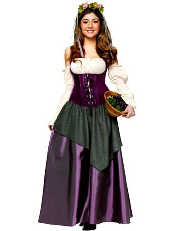 Corset Tavern Wench Adult Costume | Wholesale Renaissance Halloween Costumes for Womens