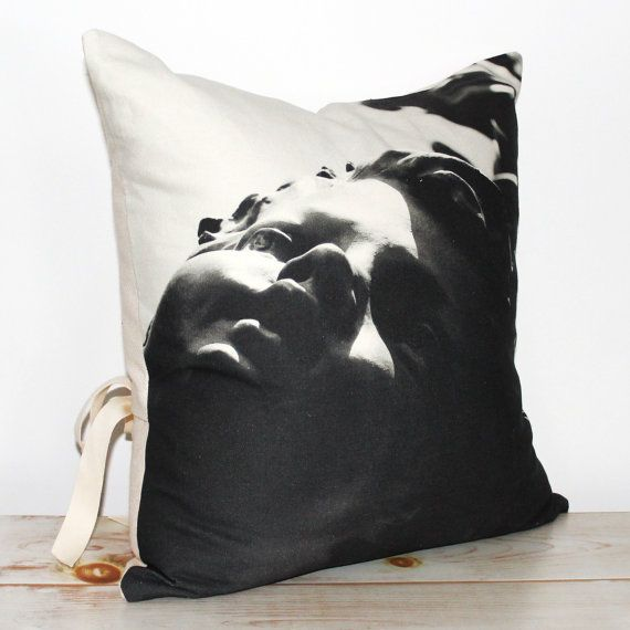 Decorative Pillow with black & white print by CAYOCOCOCUSHIONS