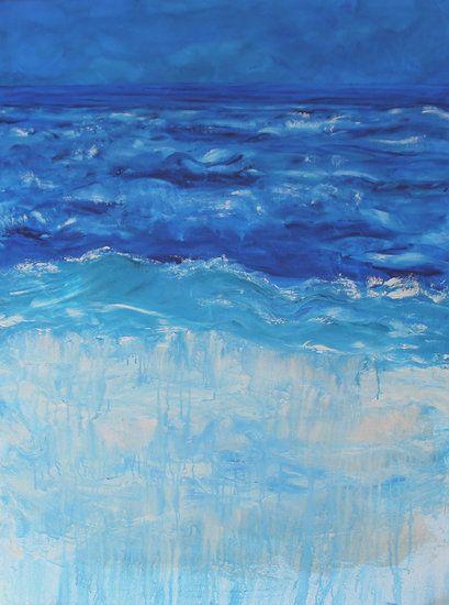 """""""Waters Edge"""" by artist Carol Hazel - Buy Western Australian Art Online from Out of the Box Biz"""