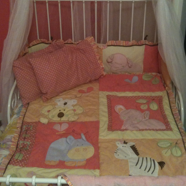 Cocalo Tropical Punch Turned Crib Set Into Toddler Bed Set