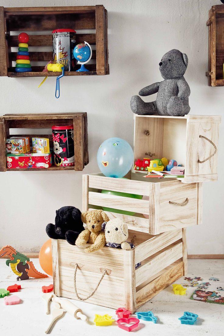 Orden con cajas de madera con asas de muy mucho. #muymucho #muymuchopormuypoco #decoracion #orden
